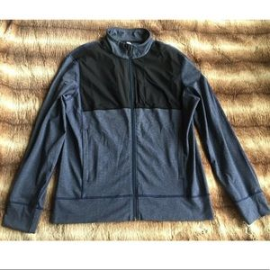 Lululemon Post Session Jacket Zip-up Blue Black
